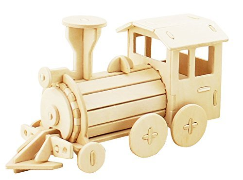 3D Train Puzzle, Educational Locomotive Toy for Kids and Adults, STEM Learning Hands Craft US Inc.