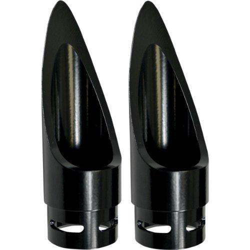 (04-09 YAMAHA XVS11A: Baron Custom Accessories Family Jewels Scalloped Exhaust Tip (BLACK))