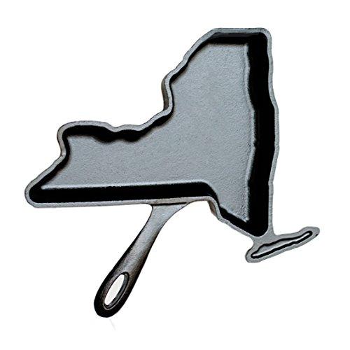 American Skillet Company ASC-NY New York Cast Iron Omelet Skillet, One Size, Seasoned Black