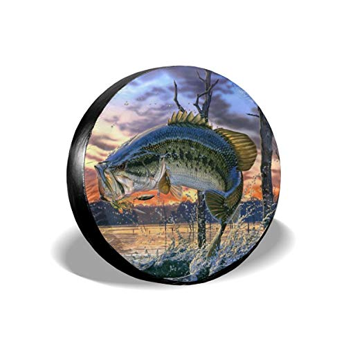 Bass Fish Jumping Leader Accessories Spare Tire Cover,Waterproof Dust-Proof(Fit 23-32 Inches) - Jumping Fish Buckle