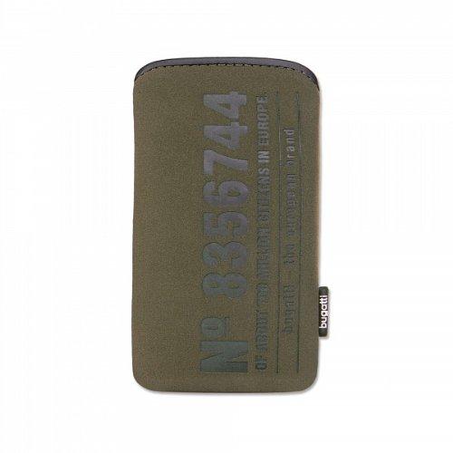 bugatti Case Tasche SlimCase SoftTouchNeopren passend für Apple iPhone 4, iPhone 4S, iPhone 4 S, olive, mit innovativem EasyCleaning-Effekt