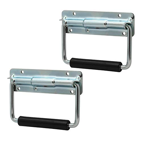 (2 Pack Universal Spring Loaded Chest Handles with Rubber Grips)