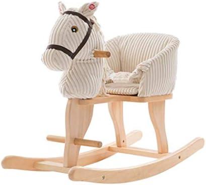 AAY 【新商品】Plush Rocking Horse Lamb、1〜3歳の子供用ロッカー、ボーイ&ガール用木製ぬいぐるみロッキングアニマル、おもちゃの白い子供乗り、屋外&屋内の幼児乗り物、誕生日プレゼント