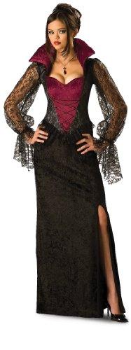 [InCharacter Costumes, LLC Women's Midnight Vampiress Costume, Red/Black, Medium] (Horror Halloween Costumes For Women)