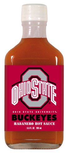 6.6 Ounce Flask (4 Pack OHIO STATE Buckeyes Hot Sauce 6.6oz Habanero Flask by Hot Sauce Harry's)