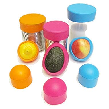 Seally Cap Reusable Silicone Food Saver, Set of 3