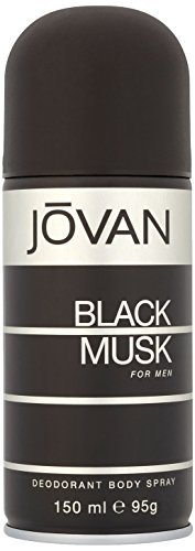 Coty Jovan Black Musk Deodorant Body Spray for Men, 5 Ounce ()