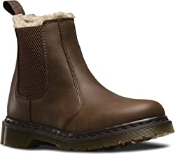 Dr. Martens Women's Leonore Chelsea Boot Black Burnished Wyoming 9 UK