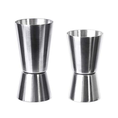 (Cocktail Jigger,2 Pack Stainless Steel Double Jigger Cocktail Bar Jigger Measuring Jigger Cup for Restaurant Bar Party Wine Cocktail Shaker (0.5/1 oz 15/30 ml and 0.67/1.5 oz 20/45 ml))