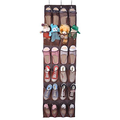 24 hanging pocket door hanging bag folding shoe rack hanger - 6