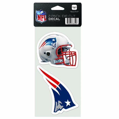 (NFL New England Patriots 2-Piece Die-Cut Decal, 4