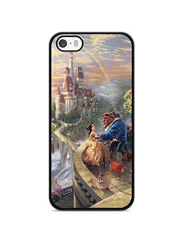 Coque Iphone 5 / 5s / SE La belle et la bete Disney Chateau case REF13499