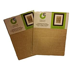 """Creative Essentials Printable Laminated Burlap Sheets- 8 1/2"""" X 11"""" - (Two Packs of 3 Each)"""