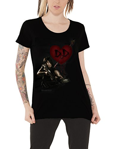 The Walking Dead T Shirt Daryl Dixon Love Ufficiale Da donna nuovo Skinny Fit