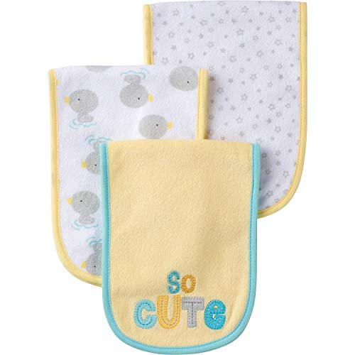 - Gerber Baby Girls 3 Pack Terry Burp Cloth, Ducks, One Size