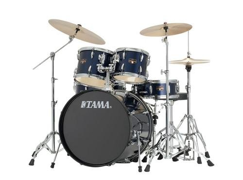 Tama Imperialstar 5-Piece Complete Drum Kit with Meinl HCS Cymbals - FREE PROMO CYMBAL PACK - Midnight Blue