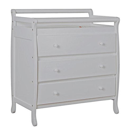 Dream On Me Liberty Collection 3 Drawer Changing Table, Grey