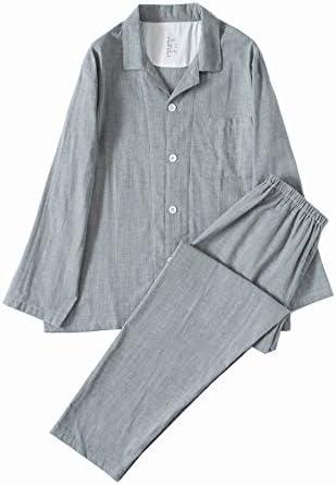 パジャマ 綿100 二重 ガーゼ ペア 夫婦 ルームウェア メンズ レディース 長袖 上下セット 吸汗 通気 肌に優しい 部屋着 春・夏・秋・冬用