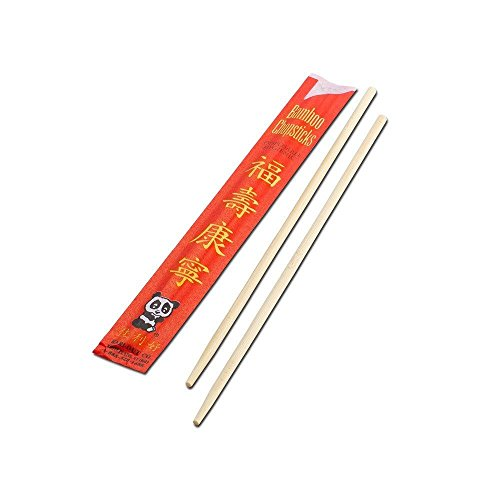 100 Pairs Disposable Wrapped Bamboo Chopsticks Chinese restaurant wooden (Personalized Cherry Blossom Lip Balm)