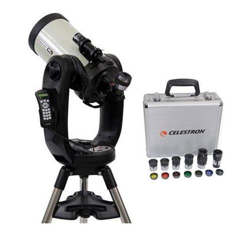 Celestron CPC Deluxe 925 HD Computerized Telescope - with Deluxe Accessory Kit (5 Plossl Eyepieces, 1.25'' Barlow Lens, 1.25'' Filter Set, Accessory Carry Case by Celestron