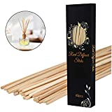 PEFSO 10 Inches Natural Rattan Reed Diffuser Sticks, Essential Oil Aroma Replacements Stick for Home, Office, Spa and Bed Room (White, 60)