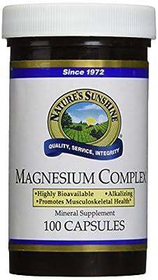 NATURE'S SUNSHINE Magnesium Complex Supplement, 100 Count