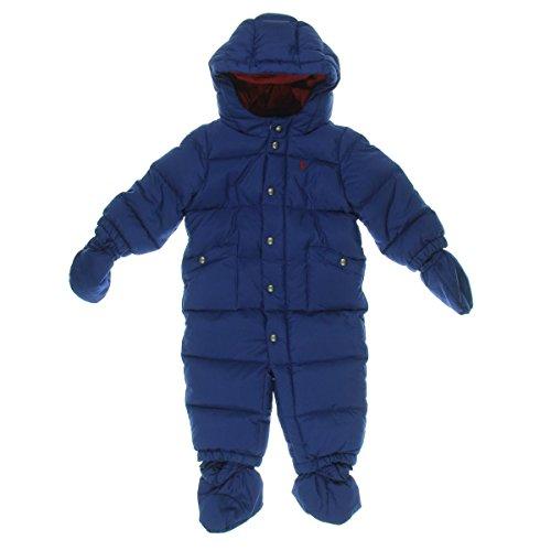 Ralph Lauren Newborn's Hooded Snowsuits & Bibs Blue 3 MO