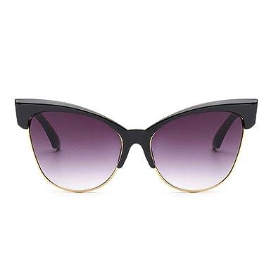 GY-HHHH Gafas de sol con ojo de gato - Gafas de sol casuales ...