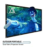 "Akia Screens 120 inch Outdoor Portable Projector Screen Collapsible 16:9 Anti-Crease Foldable Dual Front Rear Retractable 120"" Movie Theater Projection Screen Home DIY Hang Grommet AK-DIYOUTDOOR120H"