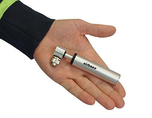 EyezOff Airbone ZT702 Supernova Ultra-Compact Bicycle Pump for Schrader/Presta (9.9cm) Silver (Silver)