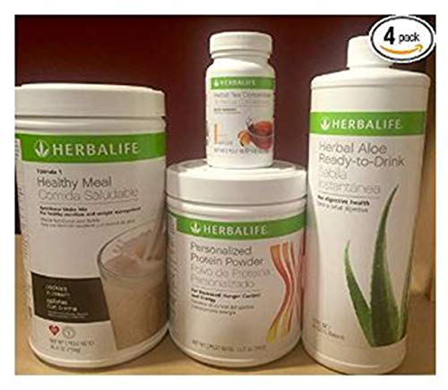 Herbalife formula 1+Personalized Protein+Ready to drink Aloe+Herbal Tea Concentrate (Total Control Herbalife Packs)