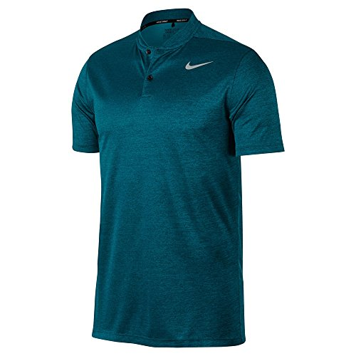 (Nike Dry Fit Heather Blade Golf Polo 2017 Blustery/Space Blue/Flat Silver XX-Large)