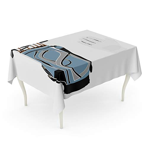 - Semtomn Decorative Tablecloth Waterproof Printed Polyester Oil-Proof Active Blue Golf Clubs Sport Equipment White Gloves Activity Caddy Competition Rectangle Table Cloth 60 x 90 Inch