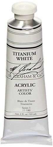 M. Graham 2-Ounce Tube Acrylic Paint, Titanium White (M Graham Titanium White)