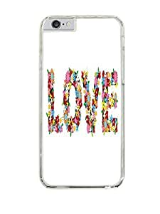 Love in Flowers Clear Hardshell Case for iPhone 6 (4.7)