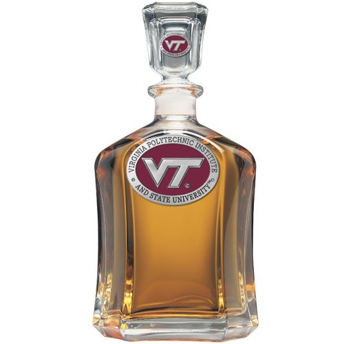 Virginia Tech Hokies Glass Capitol Decanter (Spirit Holder) 24 oz - NCAA College ()
