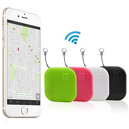 Tracker, Effeltch Smart Key Phone Wallet Finder Locator GPS Tracker Anti Lost Alarm with Selfie Shutter for iOS, Android Smartphone (Square 4pcs) by Effeltch