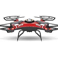 JJRC H8D RC Quadcopter Drone w/ 2.0MP HD Camera Wifi 5.8G FPV Monitor RTF Red