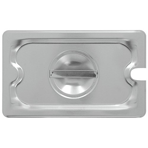 Vollrath Super Pan 3 1/4 GN flat slotted cover, 22 gauge, 300 series stainless steel, fits all 1/4 Fourth Super Pan 3 stainless steel & plastic pans, NSF, meets gastronorm (EN 631-1) standard, Made in USA, 94400