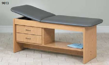 (Clinton Industries Treatment Table with Drawers Fixed Height 350 lbs)