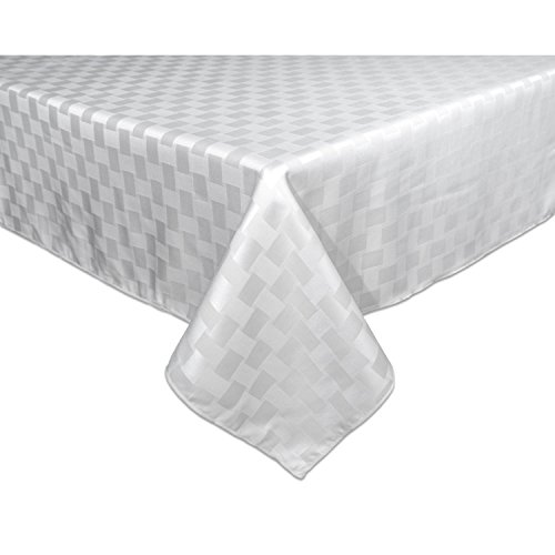 UPC 047596108567, Bardwil Reflections Spill Proof Oblong / Rectangle Tablecloth, 60-Inch x 102-Inch, White