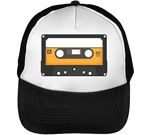 Old School Tape Gorras Hombre Snapback Beisbol Negro Blanco