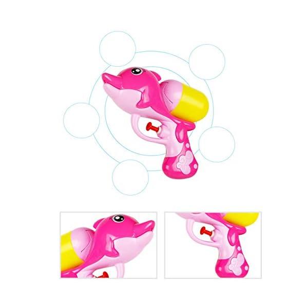 Jiobapiongxin Cartone Animato per Bambini Pistola ad Acqua a Pressione Summer Beach Pistola ad Acqua per Delfini Gioca a… 4 spesavip