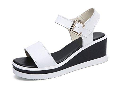 Sandalias de Verano para Mujer Sandalias de Cuña Blanco