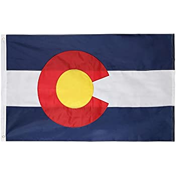 You Pick Colorado State and American Flag Combination Made In USA All Sizes