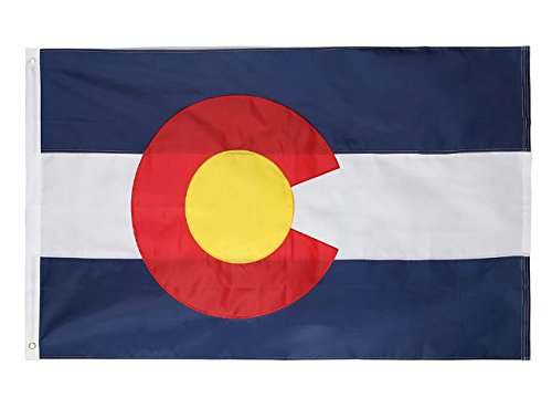 Cascade Point Flags 4x6 Feet State of Colorado Flag - Oxford 210D Heavy Duty Nylon - Sewn Panels, Durable and Long Lasting - 4 Stitch Hemming - Brass Grommets (Colorado 4x6)
