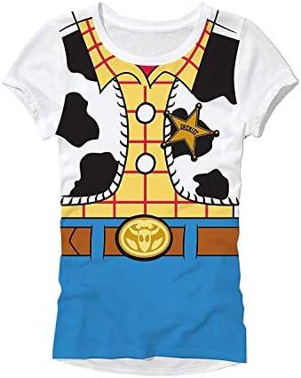 Disney Pixar Toy Story Woody Costume Juniors T-Shirt / Disney Pixar Toy Story Woody Costume Juniors T-Shirt