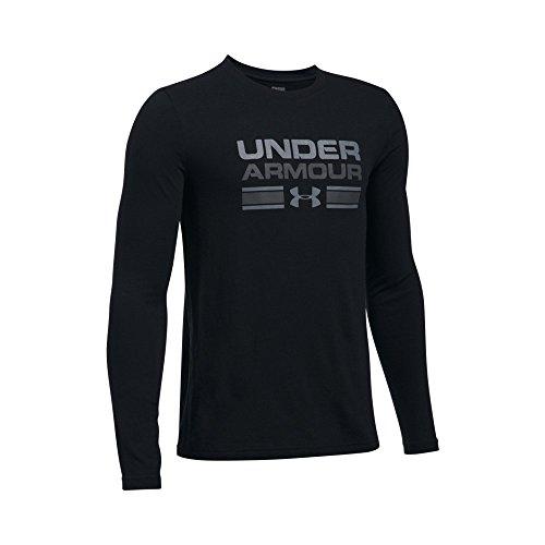 f70bf7384 Sports & Outdoors Under Armour Boys Crossbar Logo Long Sleeve T-Shirt