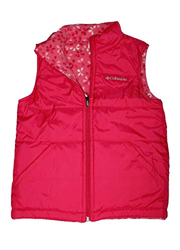 Columbia Youth Girls Ice Chips II Reversible Fleece Puffer Vest (Punch Pink/Multi Pink, M 10/12) -