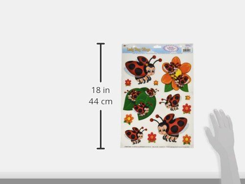 Beistle 54425 Lady Bug Clings, 12 by 17-Inch by Beistle (Image #2)